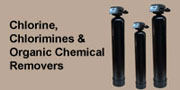 chlorine, chlorimines, organic chemical removers